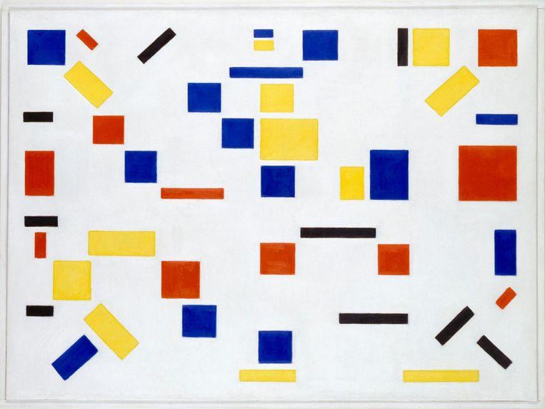 Bart van der Leck, Compositie nr 8 (1917). Beeld collectie RKD
