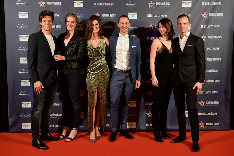 Bert De Backer en vriendin, Edward Theuns en Lien Crapoen en Iljo Keisse met zijn An-Sofie.