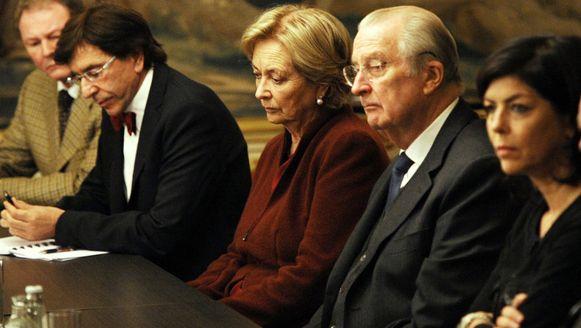 Premier Di Rupo, koningin Paola, koning Albert II en minister van Binnenlandse Zaken Joelle Milquet.