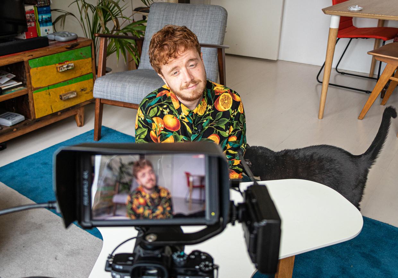 Alwin Ritstier, vlogger op Youtube. Kanaal Vetgezellig