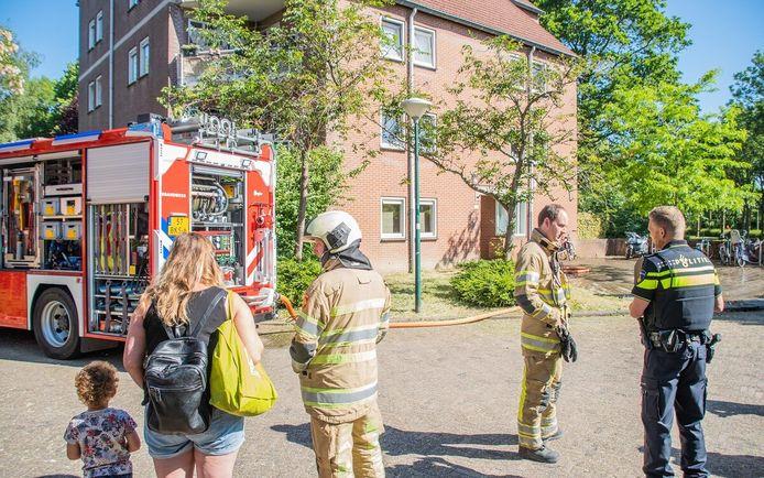 Brand op Het Spaarne in Woerden.