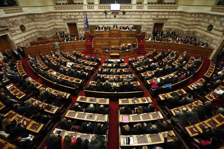 In het Griekse parlement kwam de conservatieve kandidaat vorige week nog 20 stemmen tekort.