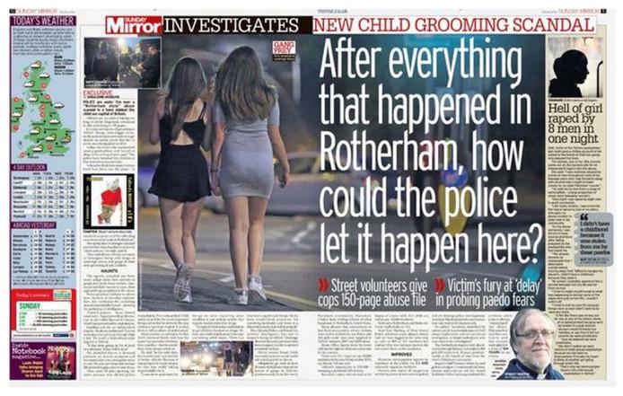Volgens tabloidkrant de Sunday Mirror zijn er jarenlang mogelijk tot wel duizend kinderen en jongeren misbruikt door groepen Aziatische mannen.