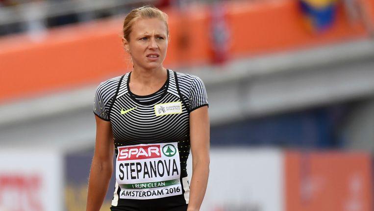 Atlete Joelia Stepanova die het Russische dopingschandaal aan het rollen bracht, mag niet meedoen met de Olympische Spelen Beeld AP