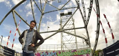 Weghalen graffiti op hefbrug Waddinxveen 'spijtig'
