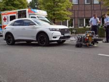 Motorrijder gewond na valpartij net over de grens