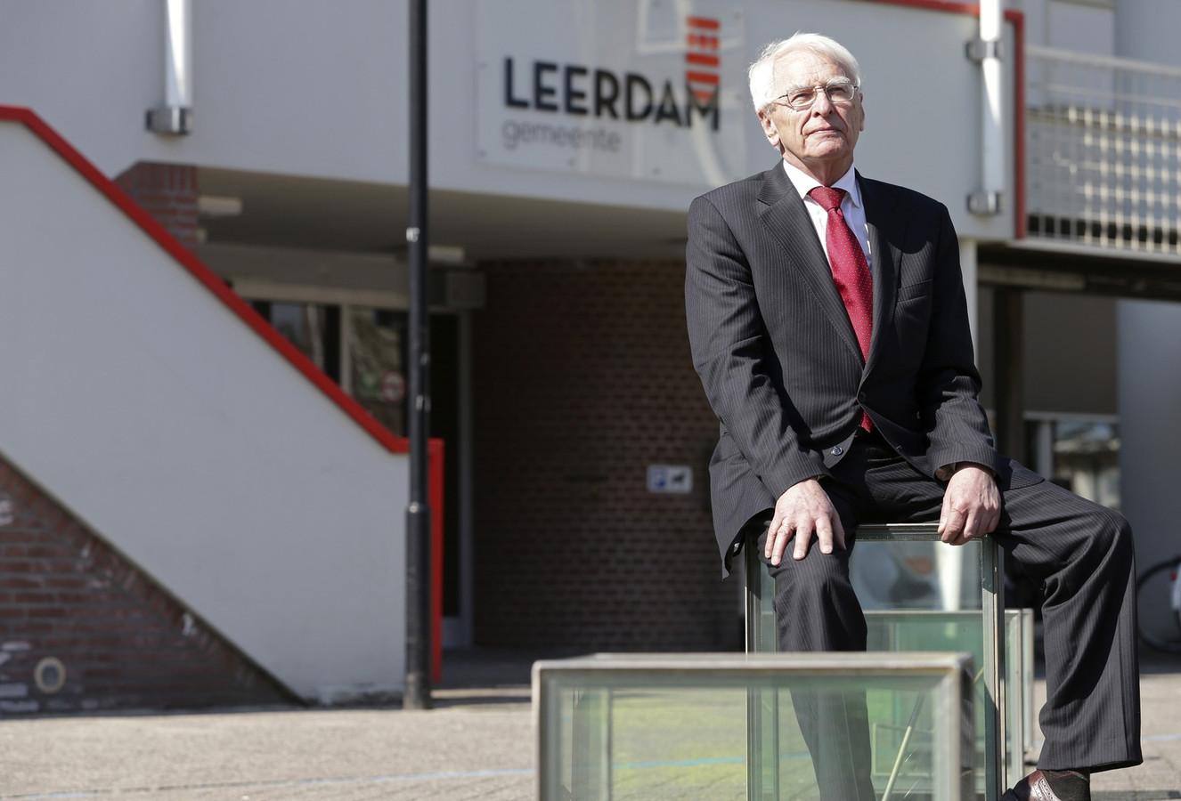 Waarnemend burgemeester Rinus Houtman in Leerdam.