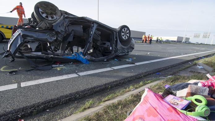 De ravage na het ongeluk was groot
