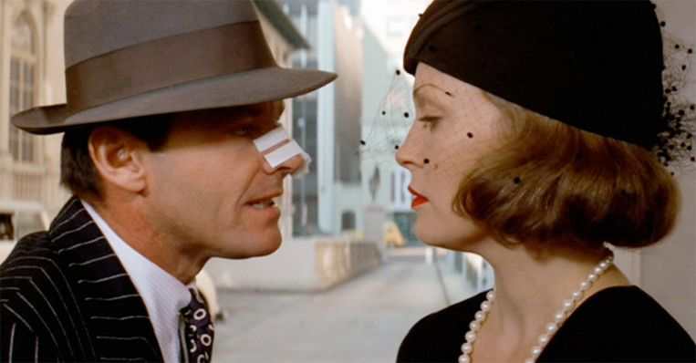 Jack Nicholson en Faye Dunaway in 'Chinatown' (1974)