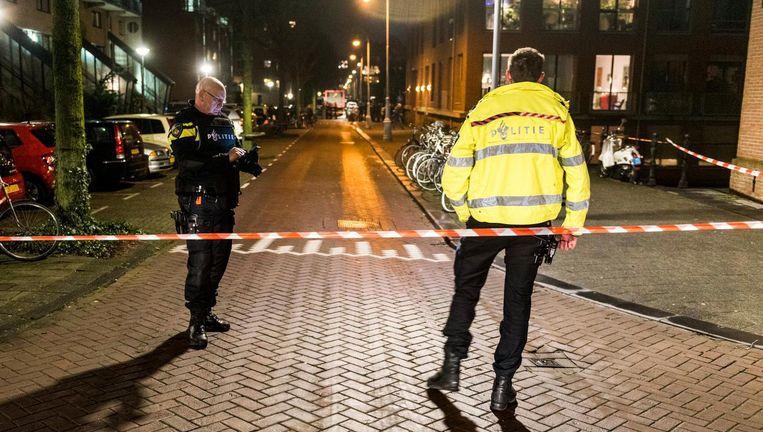 Politieonderzoek na de schietpartij vorige week Beeld anp