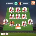 Opstelling Feyenoord.