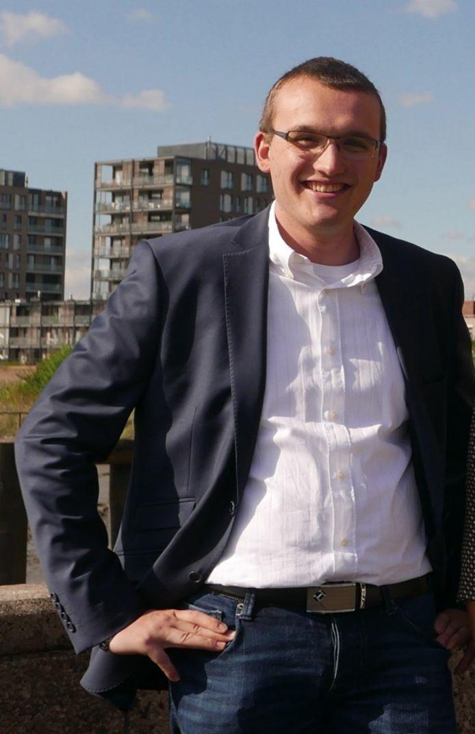 Robin Volckaert uit Haaltert, student Vastgoed aan hogeschool Odisee (Campus Aalst)
