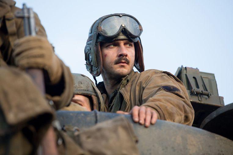 Shia LaBeouf in 'Fury'.