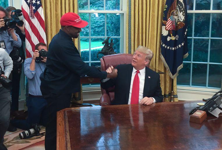 Kanye West en Donald Trump