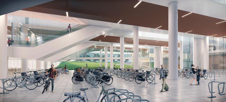Onder de sporen komt een stalplaats voor 5.000 fietsen.