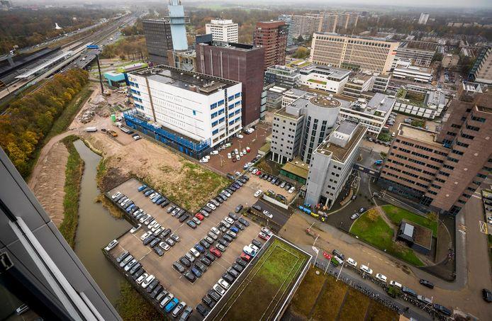 De beoogde locatie aan de Domenico Scarlattilaan waar het nieuwe kantoor van het Europese Medicijn Agentschap (EMA) gebouwd gaat worden.