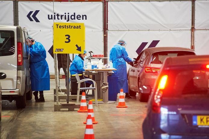 GGD-teststraat in Uden.