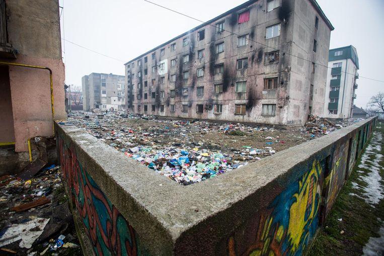 Een armoedige wijk in Baia Mare, met name bewoond door de Roma-gemeenschap. Beeld Jaap Arriens