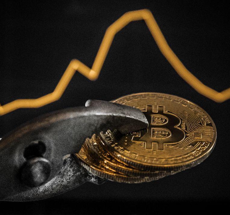 De bitcoin blijft terrein verliezen en krijgt de grens van 5.000 dollar inmiddels in zicht.