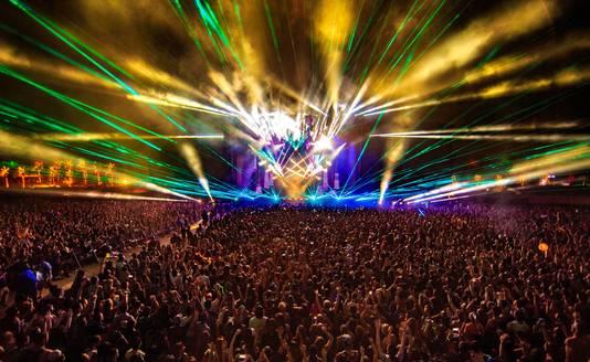 Le concert de Calvin Harris à Coachella, le 17 avril 2016.