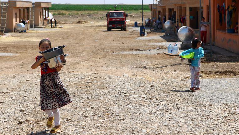 Iraakse Yezidische vluchtelingen in Turkije. Beeld getty