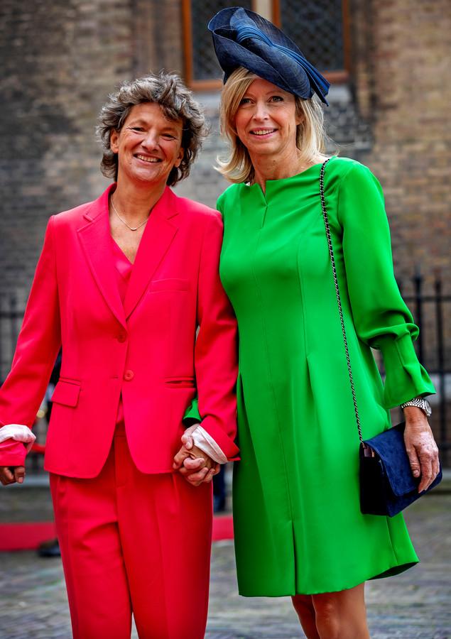 Minister Ollongren met partner