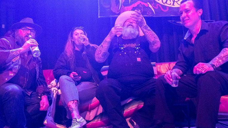 De man die tatoeëren groot maakte zit 65 jaar vol levenslust Beeld Joris Van Gennip