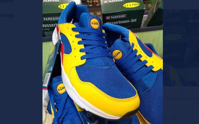 Les baskets Lidl étaient initialement proposées au prix de 13 euros.