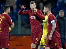 Dzeko behoedt AS Roma in blessuretijd voor nieuw puntenverlies