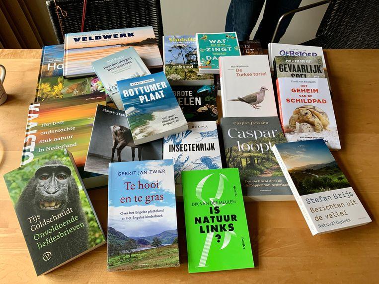 De twintig geselecteerde boeken voor de Jan Wolkers Prijs 2020. Beeld Foto rechtenvrij
