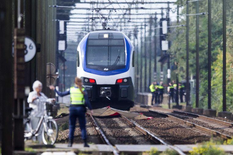 De stoptrein die bij de spoorwegovergang in Oss betrokken was bij het dramatische ongeluk .