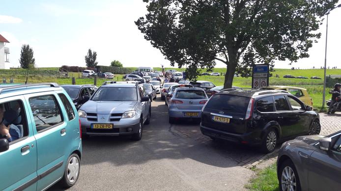 Het verkeer in Bath loopt vast
