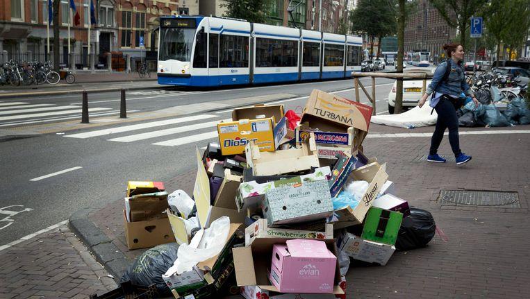 Afval in de stad. Beeld anp