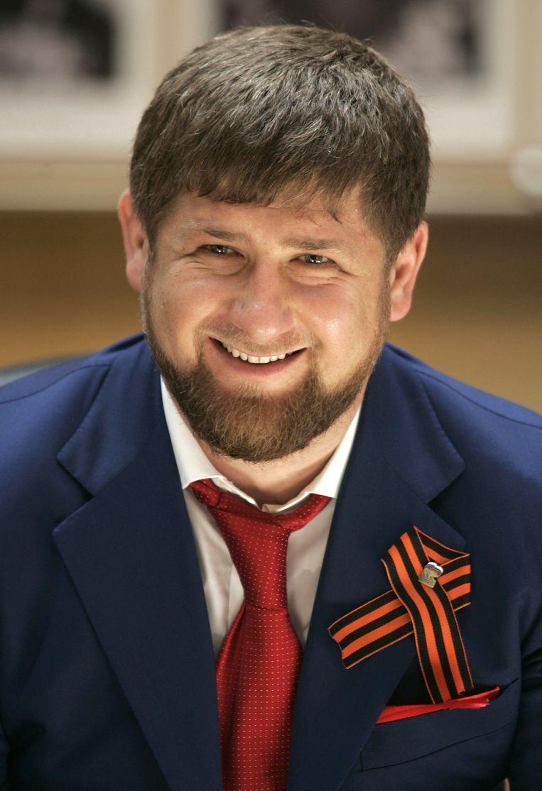 De Tsjetsjeense president Ramzan Kadyrov. Beeld ap