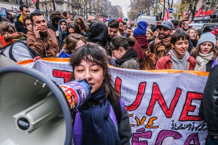 Protesten in Frankrijk. Beeld Joris Van Gennip