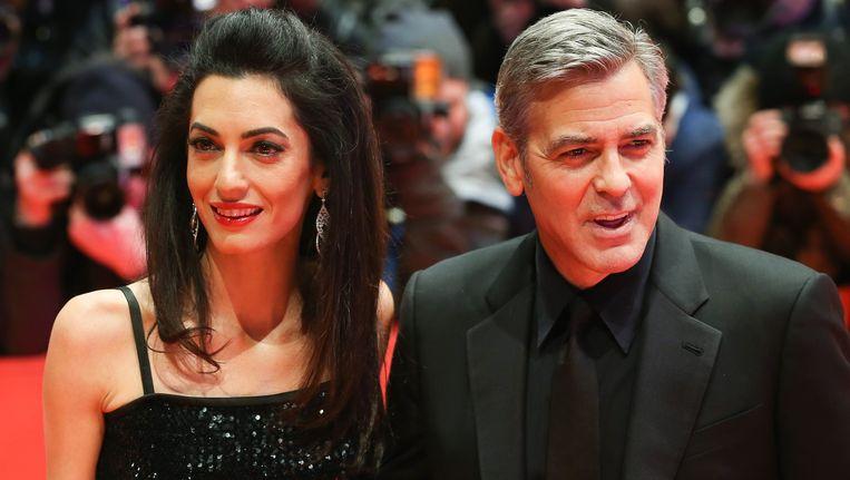 Amal en George Clooney. Beeld photo_news