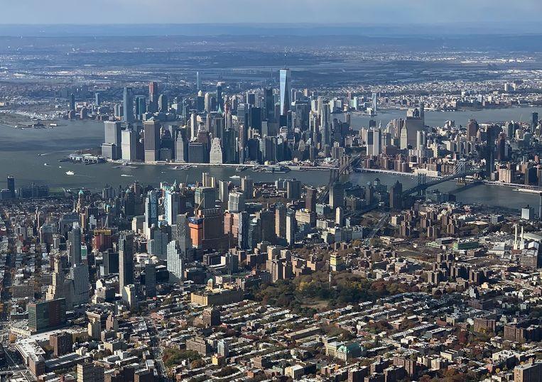 Luchtfoto van New York. Beeld Bruce Bennett / Getty