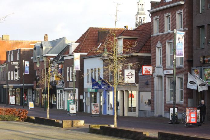 Het winkelcentrum van Zevenbergen.