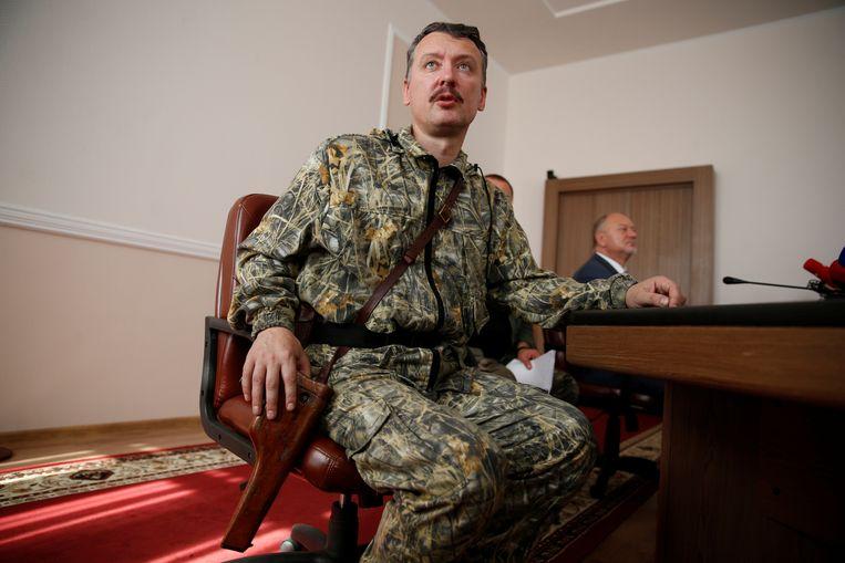 De voormalig militaire commandant van de separatisten Igor Girkin stelde dat vlucht-MH17 al voor vertrek vol met lijken zat.  Beeld REUTERS