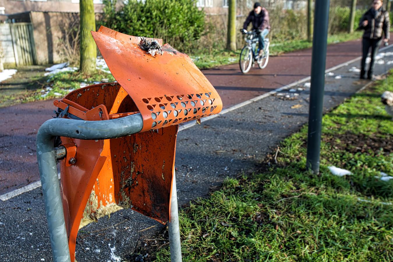 Schade door vuurwerk in Oosterhout.