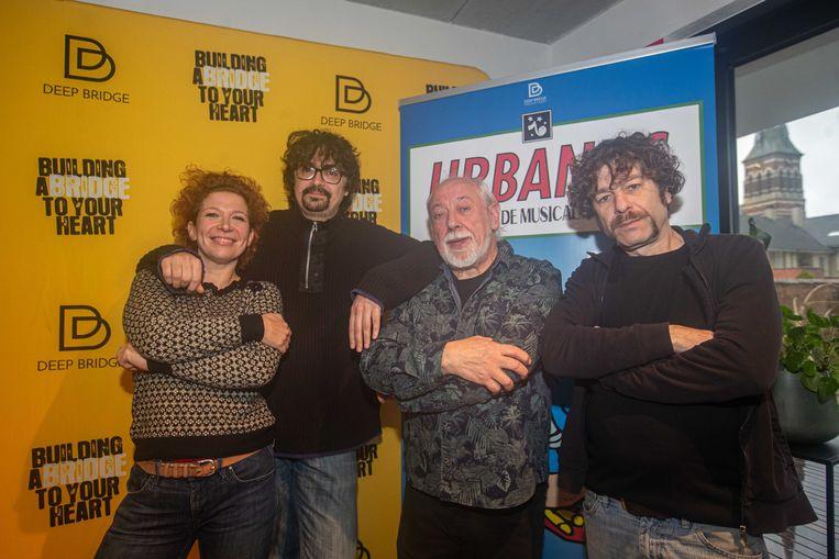 Veerle Malschaert en Bart Vanneste (alias Freddy De Vadder) die Eufrazie en Cesar in de musical zullen spelen met Urbanus en Gunter Lamoot.