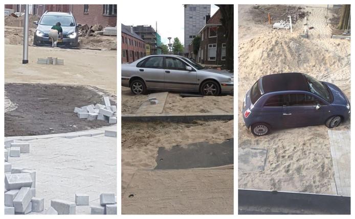 Auto's weggezakt in de Galjoenstraat.