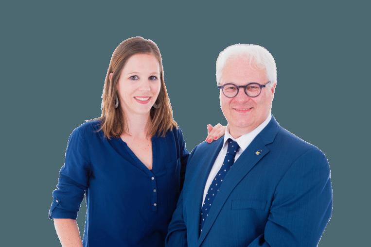 Elke Wouters en Philip Roosen.