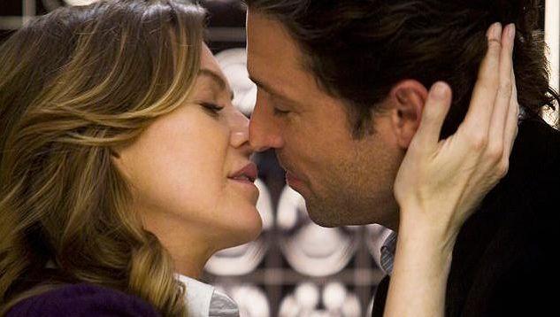 """Meredith Grey et le docteur Shepherd dans """"Grey's Anatomy"""""""