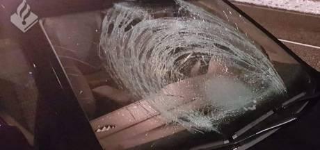 Minderjarigen gooien ijsbal tegen ruit van rijdende auto in Vught, bestuurder raakt gewond