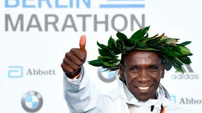 Eindelijk Kipchoge op marathon, en dat zonder hazen