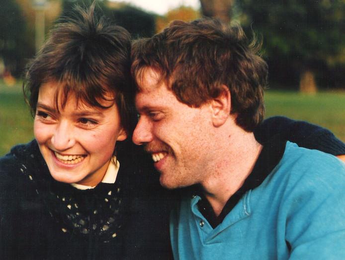 Heidrun en ik najaar 1986 in het Monbijoupark in Oost-Berlijn.