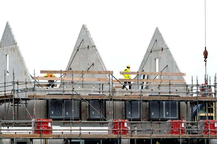 Nieuwbouwwoningen aan het Goese Diep in Zeeland. Beeld ter illustratie.