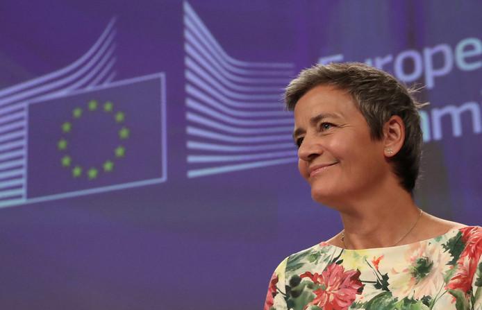Eurocommissaris Margrethe Vestager die de boete oplegde.