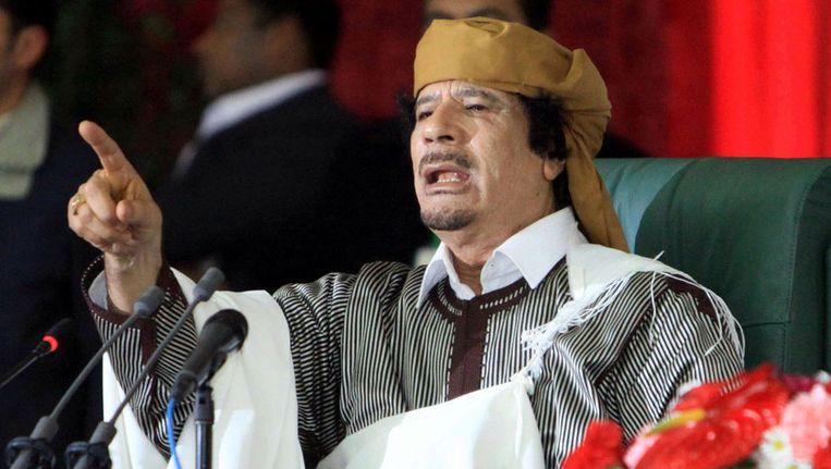 Muammar Kadaffi op archiefbeeld. Beeld epa